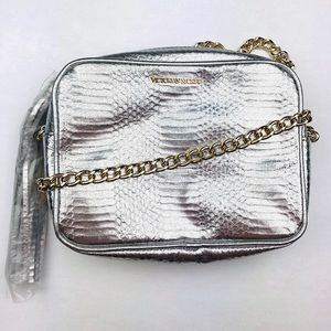 Victoria's Secret Bag Silver Gold Chain NWT